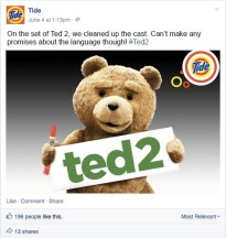Ted 2 - Cleaned Up with Tide
